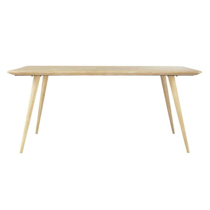 Table de salle à manger en manguier massif L 175 cm Trocadero