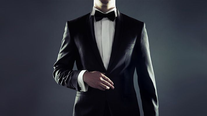 7 elements that make up the quintessential black tie look