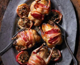 Roast Partridge with Honey-Roast Apples
