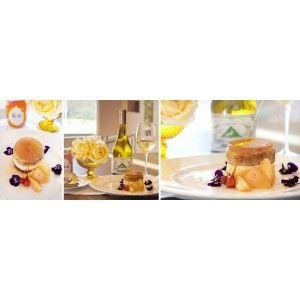 Vanilla Cheesecake with ginger, honey & pear and Cape of Good Hope Van Lill & Visser Chenin Blanc