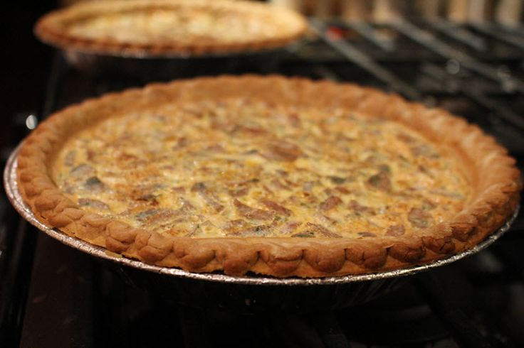 This pie is a savory award-winning recipe from the Allentown Fair. Try this delicious Chicken, Sausage, Mushroom & Swiss Pie recipe!