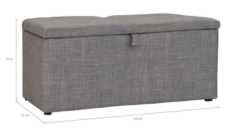 George Home Linen Effect Double Ottoman - Light Grey, read reviews and buy online at George at ASDA. Shop from our latest range in Home & Garden. Every bedroom ...