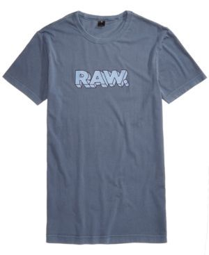 G-Star Raw Men's Graphic-Print T-Shirt - Blue XXL