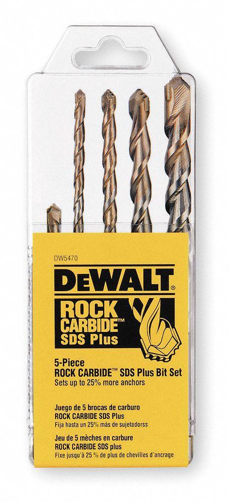 DEWALT 5-Piece x Sds-plus Hammer Drill Masonry Drill Bit for Concrete