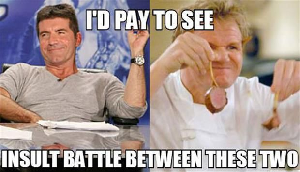Simon Cowell vs Gordon Ramsey - Dump A Day Funny Pictures Of The Day - 88 Pics