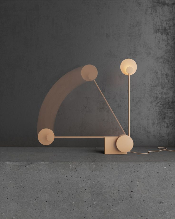 A table lamp by nottdesign that you interact with to turn it on