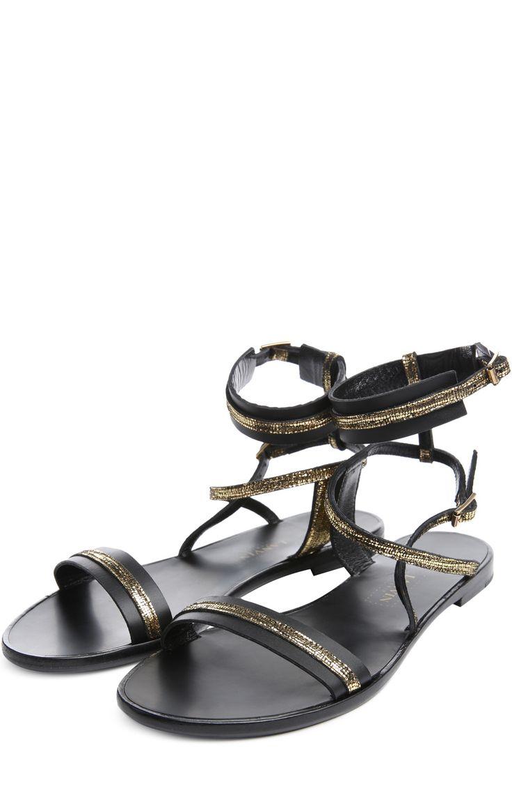 Женские черные сандалии Lanvin, арт. FW-CSPSP1-SELA-E15 купить в ЦУМ   Фото №2