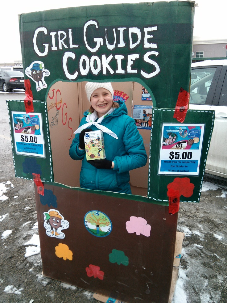 Diane in Cookie Stand at Coop, cookies- yummy!