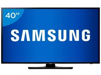 """TV LED 40"""" Samsung Full HD UN40H5100 - Conversor Digital 2 HDMI 1 USB"""