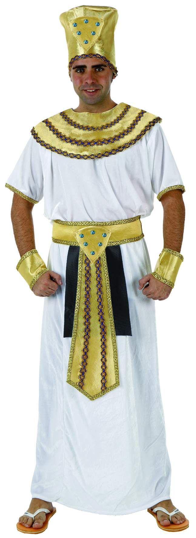 Disfraz de rey egipcio para hombre: Este disfraz de rey egipcio para hombre se compone de un sombrero, un cuello, un vestido, un cinturón y dos muñequeras. Es un traje perfecto para convertirte en faraón en...