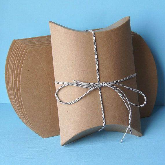 20 Kraft Pillow Boxes for Treats, Packaging & Gift Wrap . 4.5 x 4.5 x 1.5. $7,90, via Etsy.