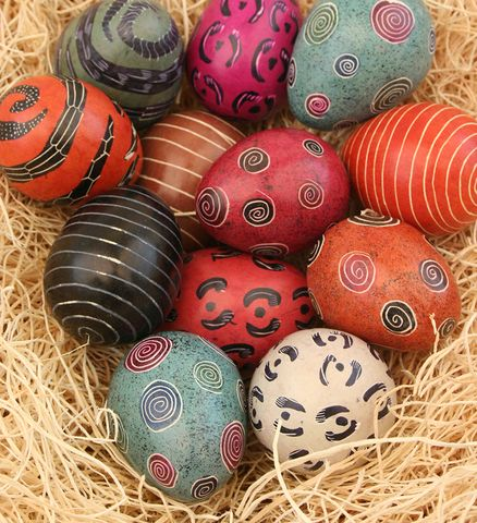 34 best easter gifts easter eggs from africa images on pinterest a dozen soapstone eggs each hand dyed with festive designs eastereggs easter gifteaster negle Images