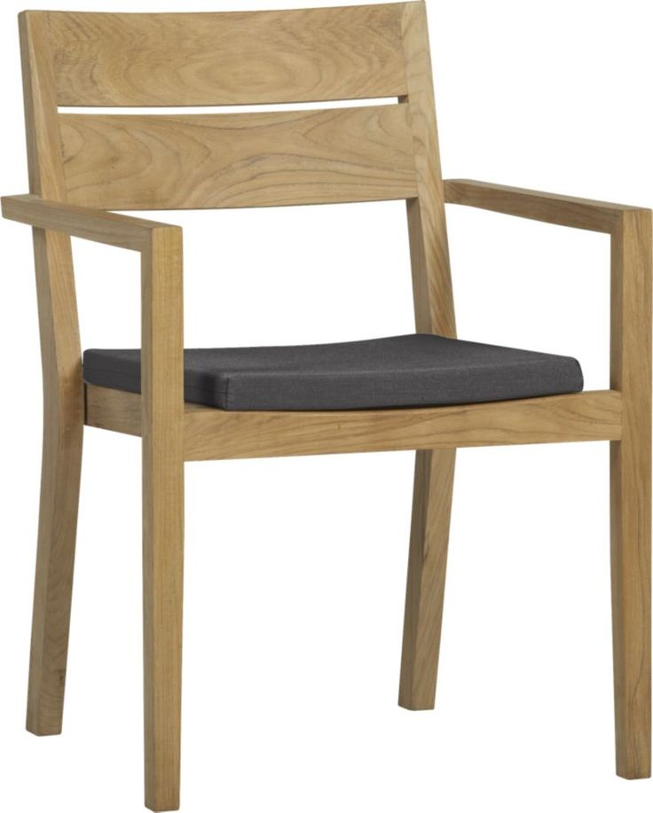 regatta dining chair with sunbrella charcoal cushion crate and barrel