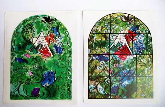 Pair 60s Original Marc CHAGALL prints ISSACHAR by MushkaVintage3