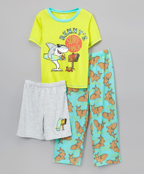 Look at this Komar Kids Benny's Surf Shack Pajama Set - Boys on #zulily today!