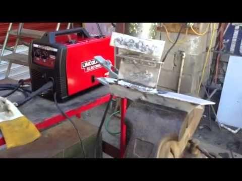 Maquina microalambre lincoln weld pak 140 - YouTube