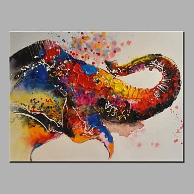 Oil Painting Modern Abstract Pure Hand Draw Ready To Hang Decorative The Elephant Nose Oil Painting 2016 - $43.99