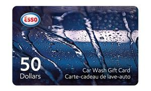 One or Two $50 Car-Wash Gift Cards from Esso (Up to 28% Off)