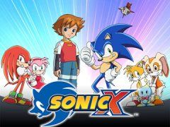 """TV SERIES - Sonic X """"2003-2006"""" (Genre: Action/Fantasy) Starring: Jason Griffith/Jun'ichi Kanemaru as Sonic the Hedgehog, Dan Green as Knuckles the Echidna, Amy Palant as Miles 'Tails' Prower, Mike Pollock as Dr. Eggman, Lisa Ortiz as Amy Rose, Oliver Wyman as Big the Cat as Caren Lyn Tackett as Rouge the Bat, Jimmy Zoppi asVector the Crocodile, David Wills as Espio the Chameleon & Kôji Yusa as Shadow Plot: Sonic gang racing to collect the Chaos Emeralds before the evil Dr. Eggman does."""