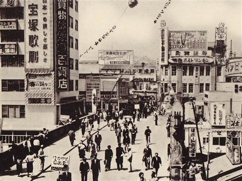 道頓堀と戎橋と心斎橋筋の交流点写真画像 #Osaka #Japan #history Osaka Japan history