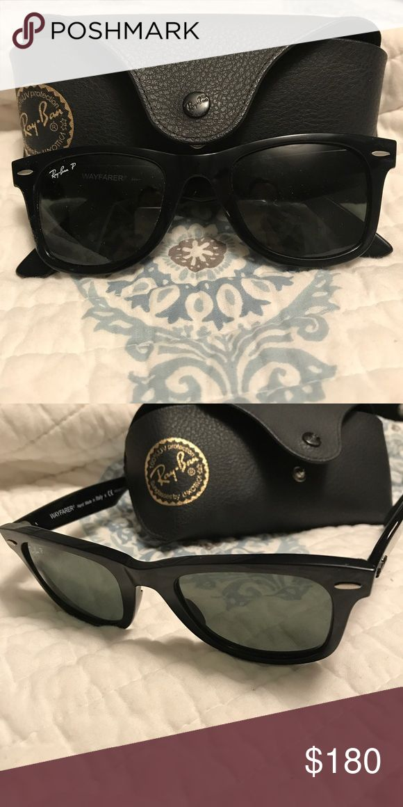 Authentic Ray Ban Wayfarer Women's wayfarer polarized sunglasses. Worn a few times. No scratches! Like new condition.comes with case and cloth. Ray-Ban Accessories Sunglasses