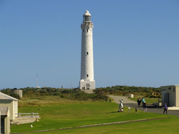 Cape Leeuwin Lighthouse, West Australia - where the 2 oceans; The Indian and The Southern Ocean meet. The lighthouse is situated at Australias most south-western point south of the city Augusta.