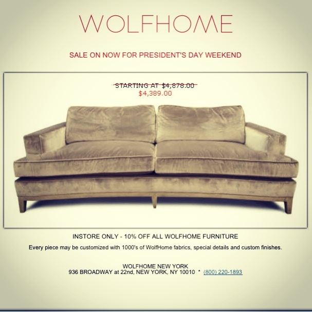 Wolf Homeu0027s Presidentu0027s Day Sale Is Going On Now: INSTORE ONLY   10% OFF  ALL WOLFHOME FURNITURE! Donu0027t Miss It!   Wolf Home   Pinterest   Happyu2026