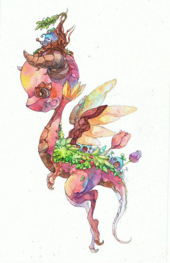 cherry dragon by ~jengslizer on deviantART