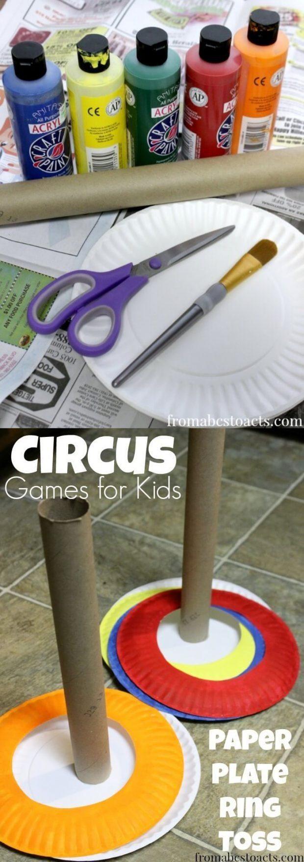 Ingenioso juego al estilo de ferias para niños / http://fromabcstoacts.com/