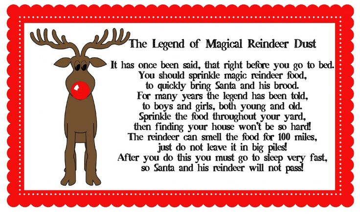 Magical Reindeer Dust    1 cup sugar  1 cup instant oatmeal  1 cup sprinkles or glitter