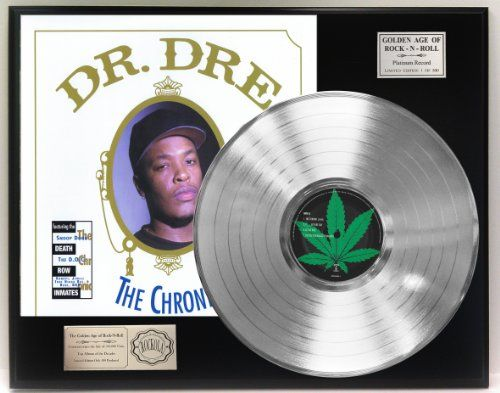 awesome Doctor Dre Platinum LP Record LTD Edition Award Style Collectible Display