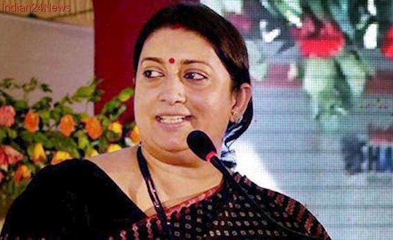 Complaint registered against school for showing Smriti Irani's video conference