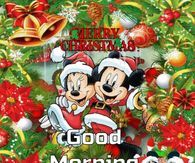 Merry Christmas Good Morning Disney Gif