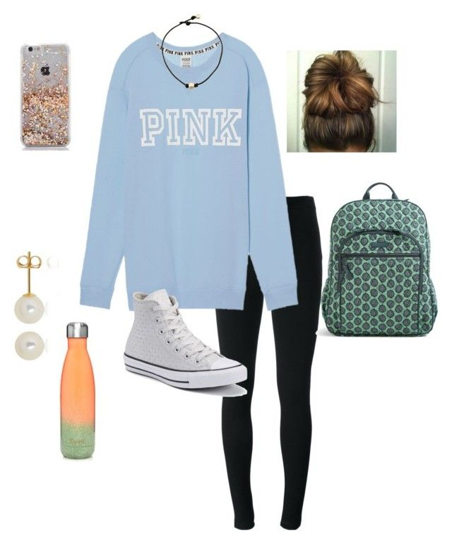 """""""Put Your Best Face On For The World. Fake Another Smile, And Just Pretend"""" by jweber-14 ❤ liked on Polyvore featuring Givenchy, Victoria's Secret, Belk & Co., Converse, Vera Bradley and S'well"""