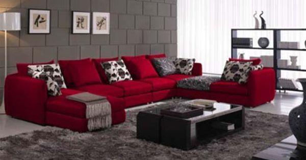 Attraktiven Roten Sofa Wohnzimmer Ideen Foto Wand Farbe Die Rote