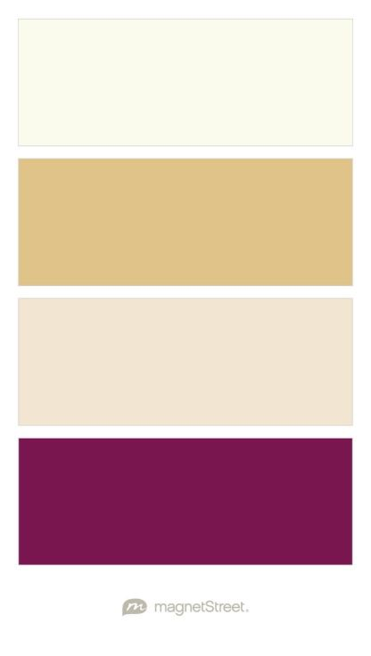 Ivory, Gold, Champagne, and Sangria Wedding Color Palette - custom color palette created at MagnetStreet.com