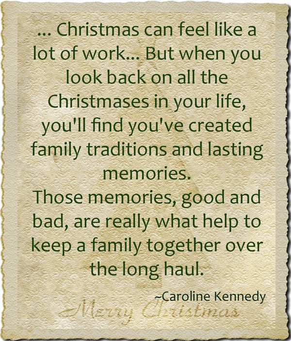 Christmas And Making Memories