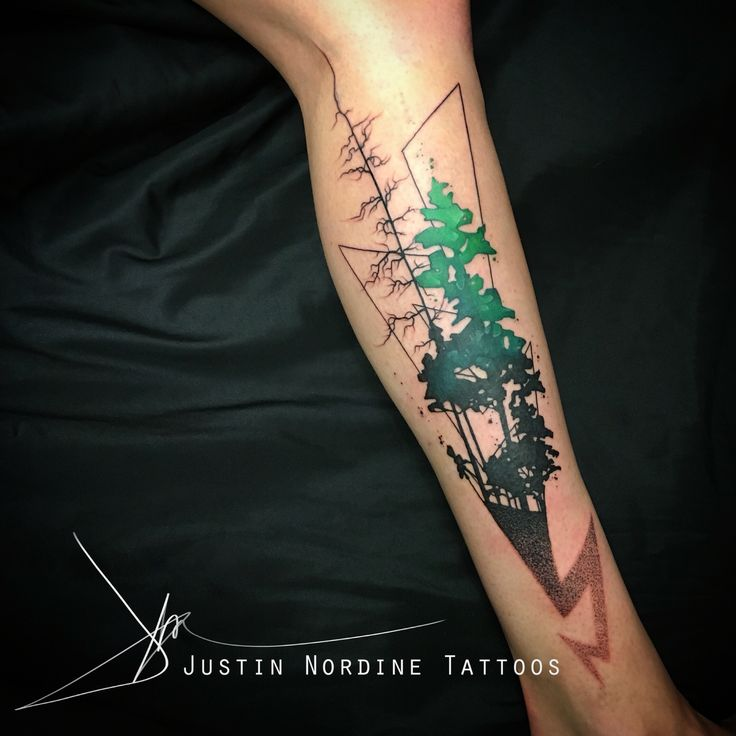 1000 images about watercolor tattoos on pinterest for Pine tree tattoo ideas