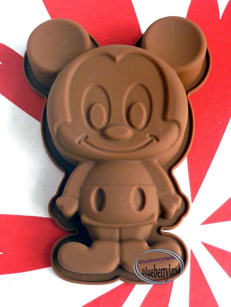 Disney Mickey Mouse SILICONE Mold Pudding Jelly Cake Mould Party Kitchen  Baking