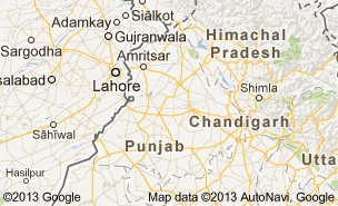 Map of Punjab, India This is a map of punjab, where bhangra origanated.