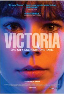 Victoria (II) (2015) 138 min  |  Crime, Drama, Thriller  |  9 October 2015 (USA) Ratings: 8.2/10 from 4,259 users   Metascore: 86/100  Reviews: 22 user | 87 critic | 6 from Metacritic.com While on holiday in Berlin, a young woman finds her flirtation with a local guy turn potentially deadly as their night out with his friends reveals its secret: the four men owe someone a dangerous favor that requires repaying that evening.  Director: Sebastian Schipper Writers: Olivia