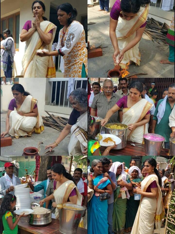 Asha Sarath on Attukal Pongala