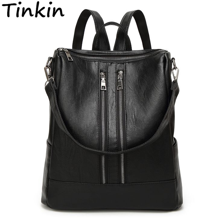 Tinkin PU Leather Woman Casual Backpack //Price: $25.00 & FREE Shipping //     #hashtag2