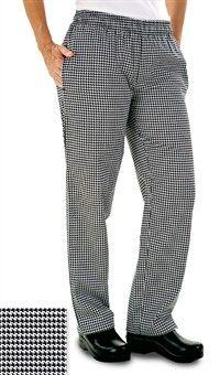Pantalones de chef para mujer - Estampado pata de gallo en blanco y negro  23€