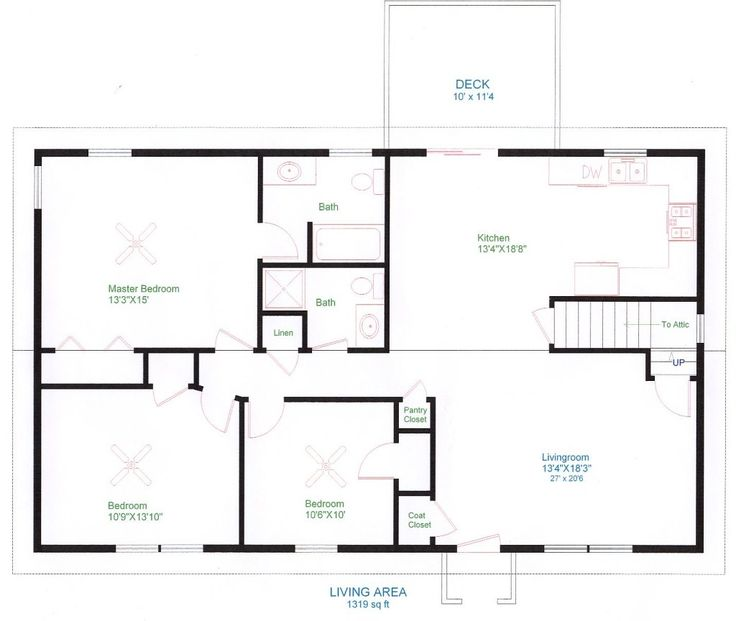 simple one floor house plans ranch home plans house plans and more - Simple Floor Plans