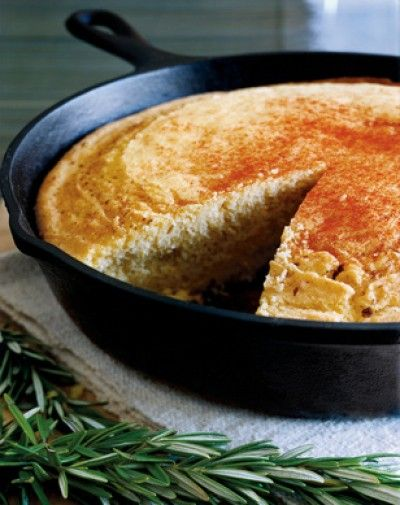 Dutch Oven Corn Bread...other camping recipes on this site too!