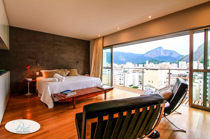 Ipanema Luxury Vacation Rental | Ipanema Modern 3 Story Penthouse - The Master Suite and it's amazing views.