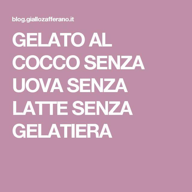 GELATO AL COCCO SENZA UOVA SENZA LATTE SENZA GELATIERA