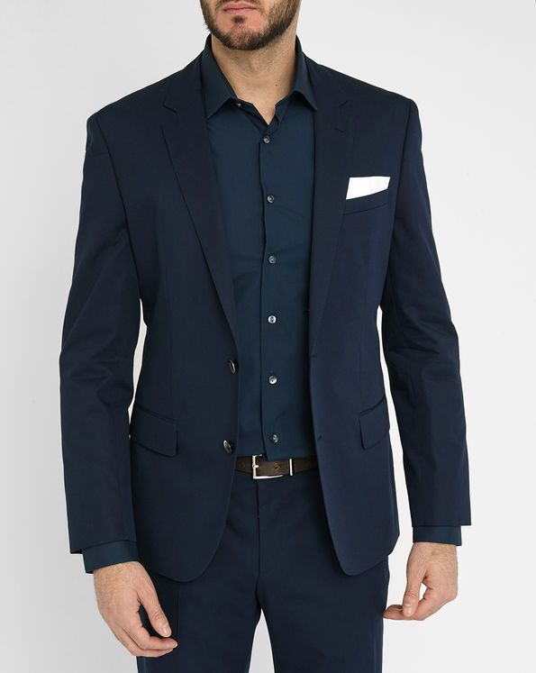 Closely fitting suit Hutson in Blue Hugo - Hugo Boss