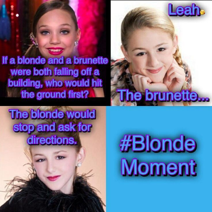 comics of dance moms | Haha blond moment!! Good thing this is not real!!